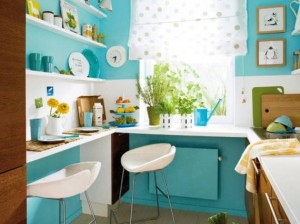 Turquoise-Blue-Kitchen-for-Cute-Kitchen1