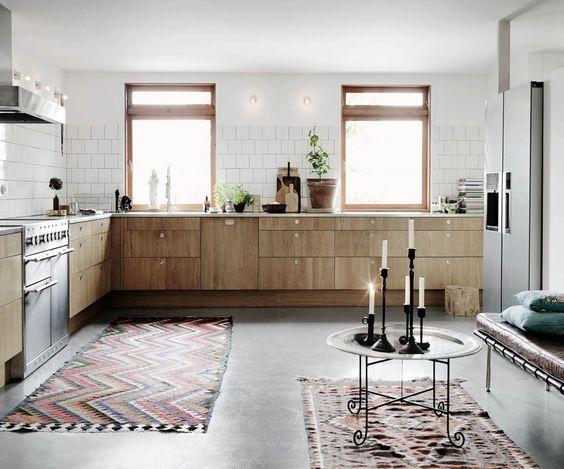 Alfombras en las cocinas. ¿A favor o en contra?